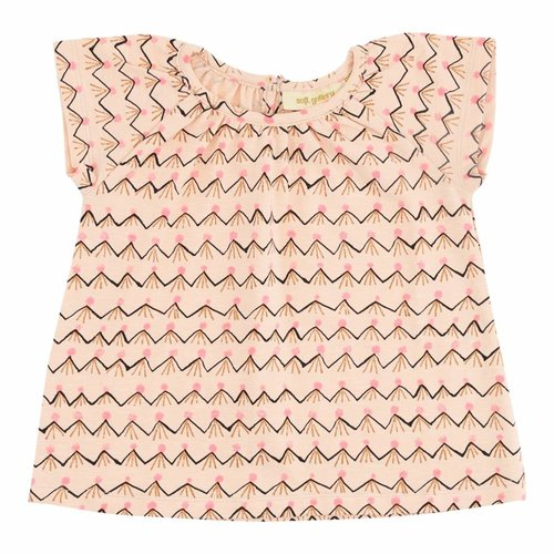 Soft Gallery Baby Olivia Top Scallop Shell AOP Volcano t-shirt roze