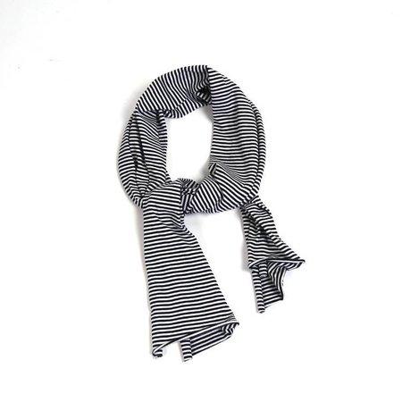 MINGO Scarf B/W Stripes black white