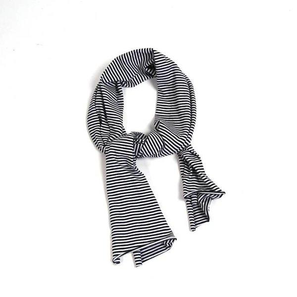 Scarf B/W Stripes black white