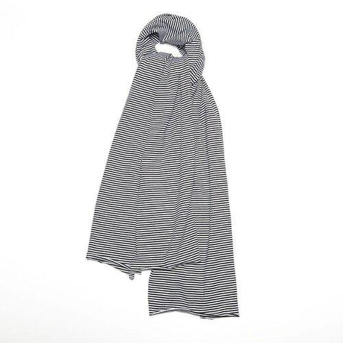 MINGO Scarf XL B/W Stripes black white