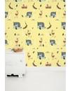 Bosvrienden behang geel