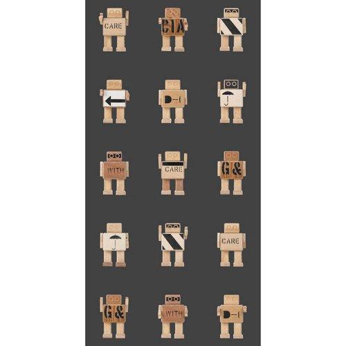 KEK Amsterdam Rijkswachters Robot Behang zwart
