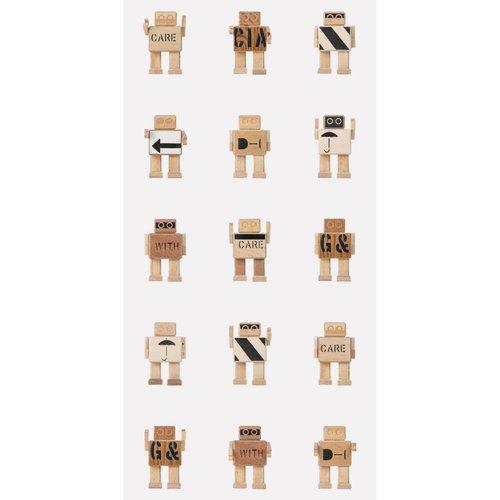 KEK Amsterdam Rijkswachters Robot Behang wit