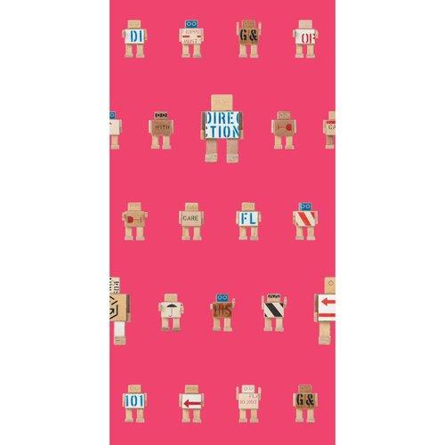 KEK Amsterdam Rijkswachters Robot Behang roze klein
