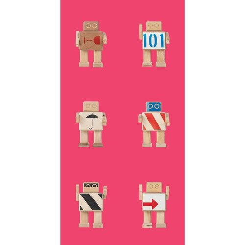 KEK Amsterdam Rijkswachters Robot Behang roze