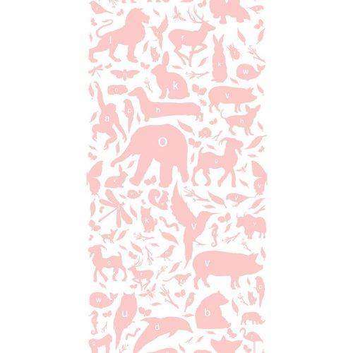KEK Amsterdam Dieren ABC Behang roze