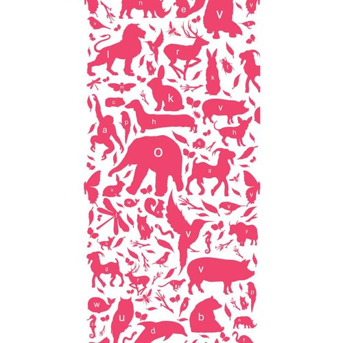 KEK Amsterdam Animals ABC Wallpaper fuchsia