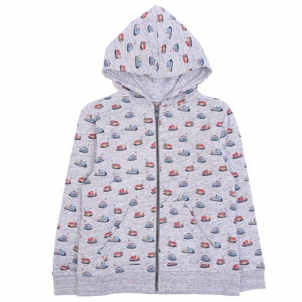 Zipped Sweatshirt Gris Chine Autotamp