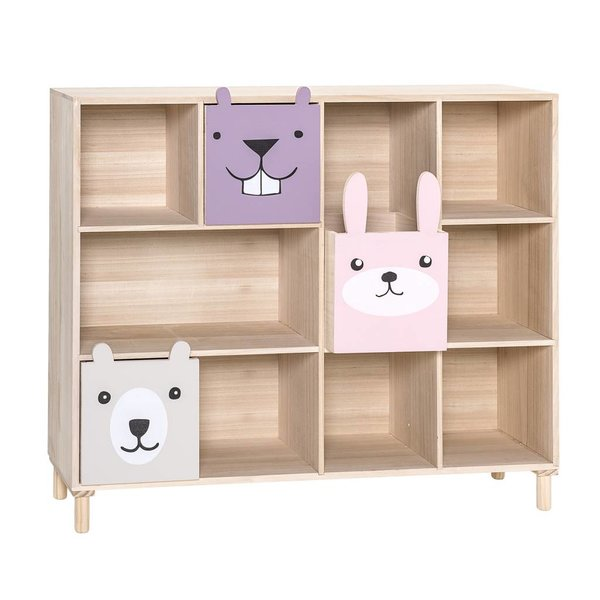 Bookcase w/Drawers Rose