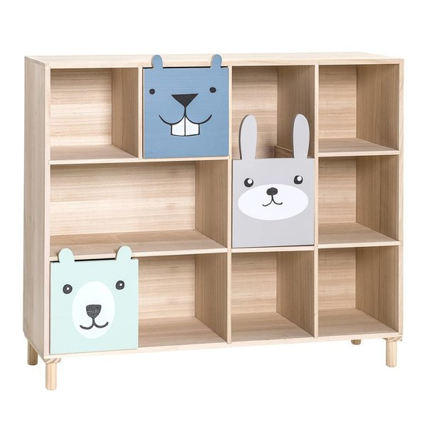 Bookcase w/Drawers Blue