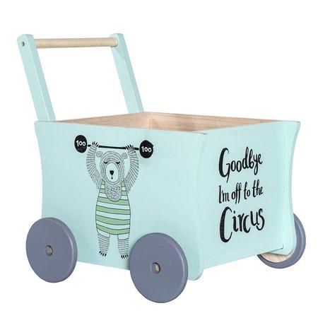 Bloomingville Mini Circus Push Wagon Green