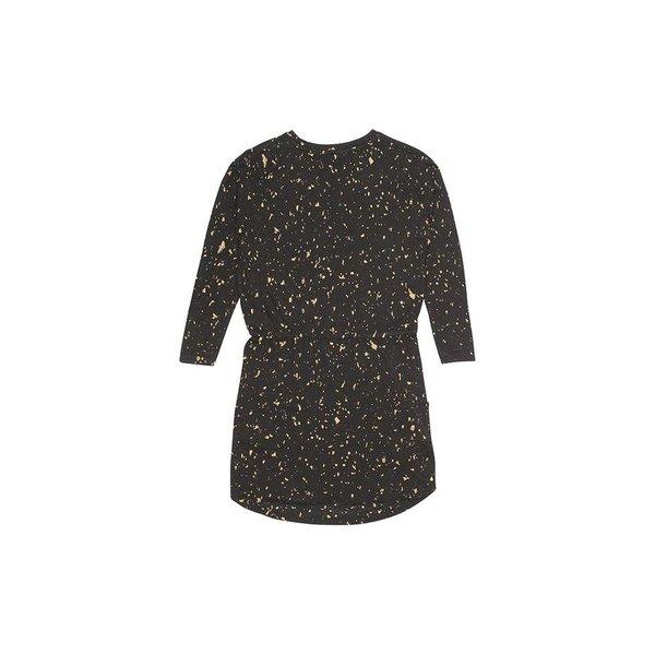 Vigdis Dress AOP Flakes Gold jurk