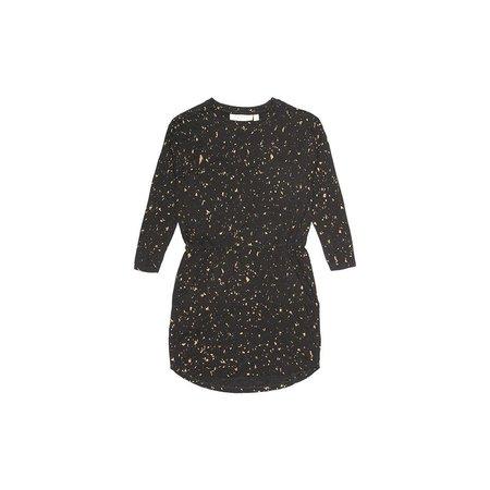 Soft Gallery Vigdis Dress AOP Flakes Gold jurk