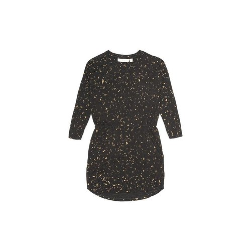 Soft Gallery Vigdis Dress AOP Flakes Gold jurk
