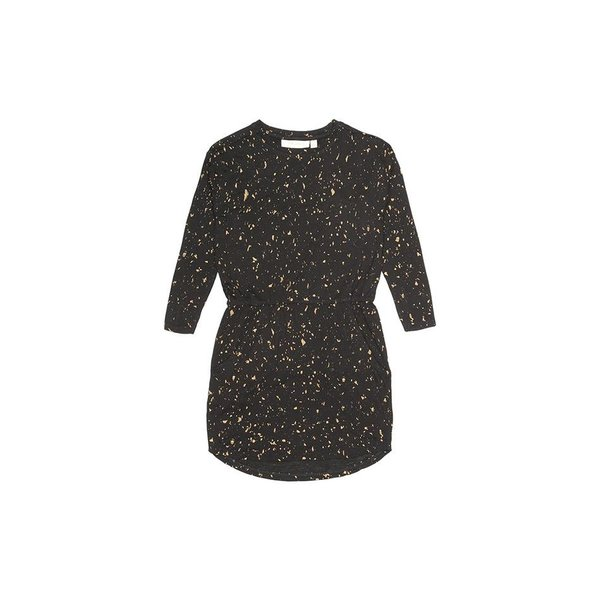 Vigdis Dress AOP Flakes Gold