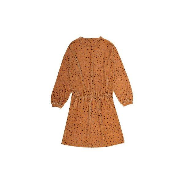 Bonnie Dress AOP Dotties Golden Yellow jurk