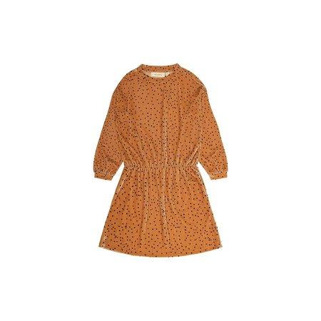 Soft Gallery Bonnie Dress AOP Dotties Golden Yellow jurk