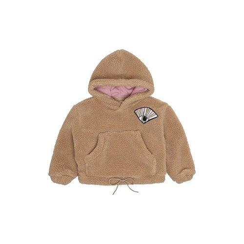 Soft Gallery Bogie Hoodie Eyefan P Teddy Camel trui