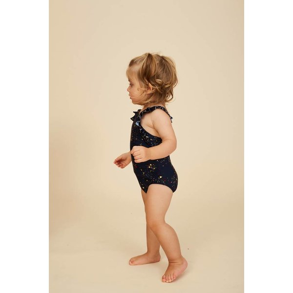 Baby Ana Swimsuit AOP Bubble Black Iris zwempak