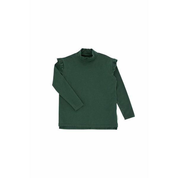 Solid Mockneck Tee Dark Green
