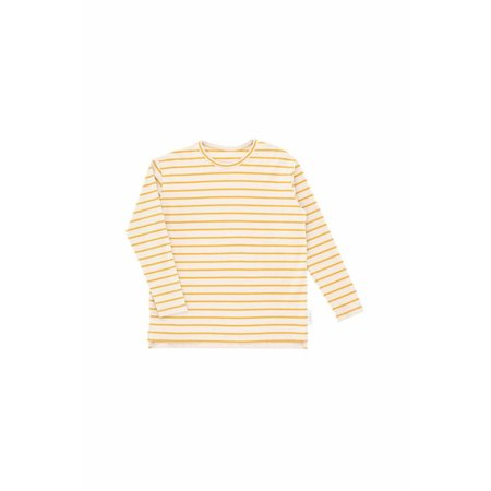 Tinycottons Small Stripes LS Relaxed tee beige/mustard