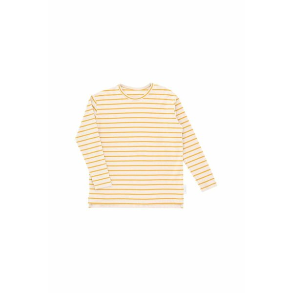 Small Stripes LS Relaxed tee beige/mustard