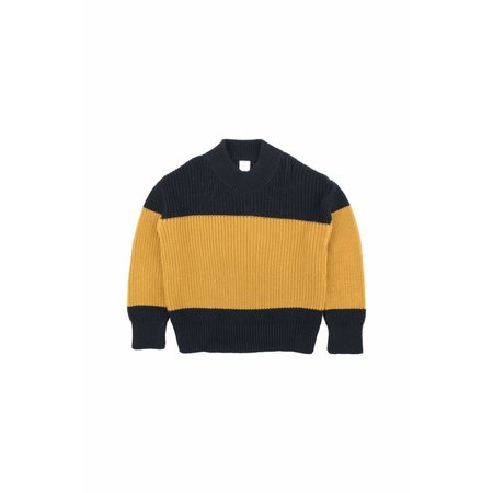 Tinycottons Color-Block Sweater Navy/Mustard