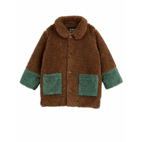 Mini Rodini Faux Fur Jacket Brown jas