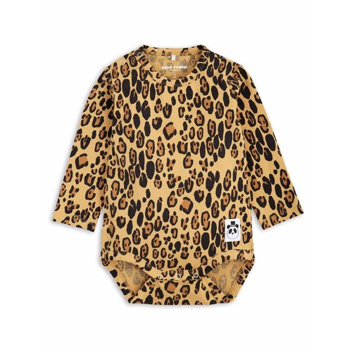 Mini Rodini Basic Leopard LS Body romper