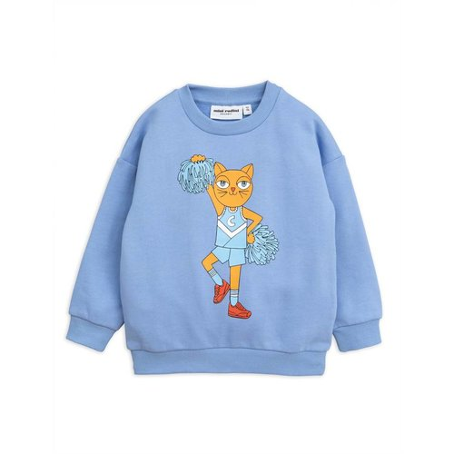 Mini Rodini Cheercat SP Sweatshirt blue trui