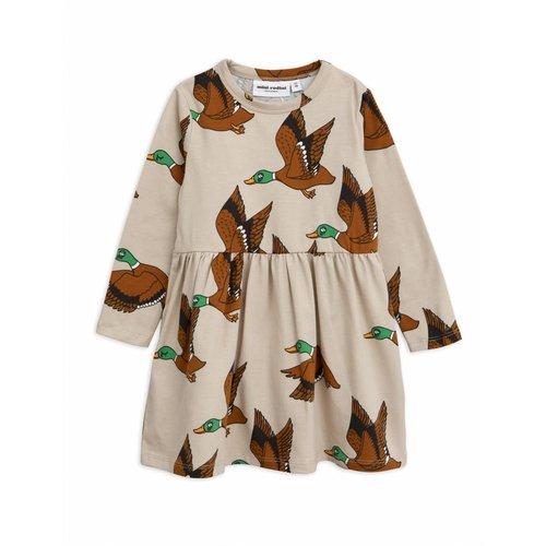 Mini Rodini Ducks AOP LS Dress jurk