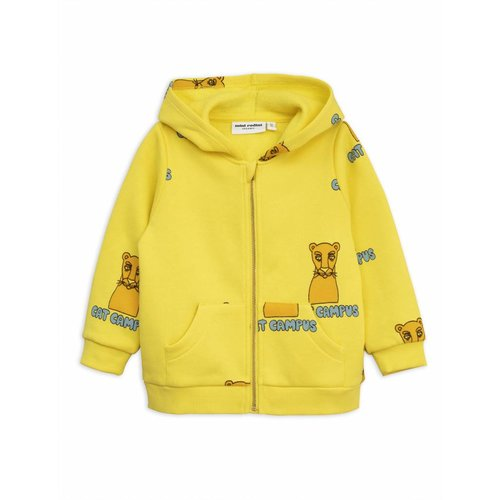 Mini Rodini Cat Campus zip hood vest