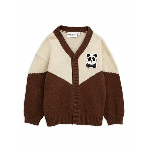 Mini Rodini Panda Knitted Wool Cardigan vest