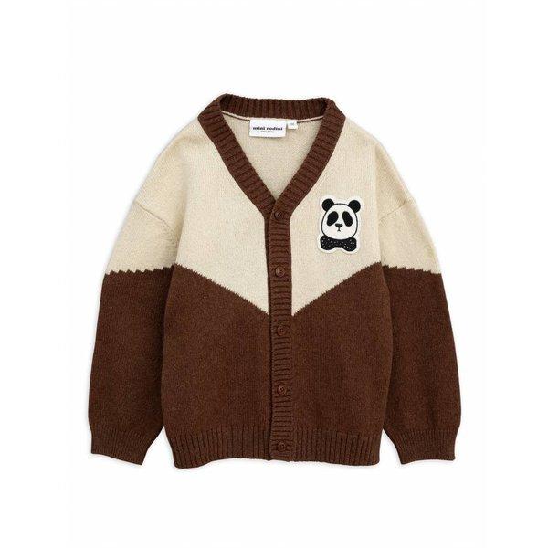 Panda Knitted Wool Cardigan vest