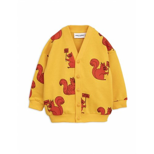 Mini Rodini Squirrel Cardigan yellow vest