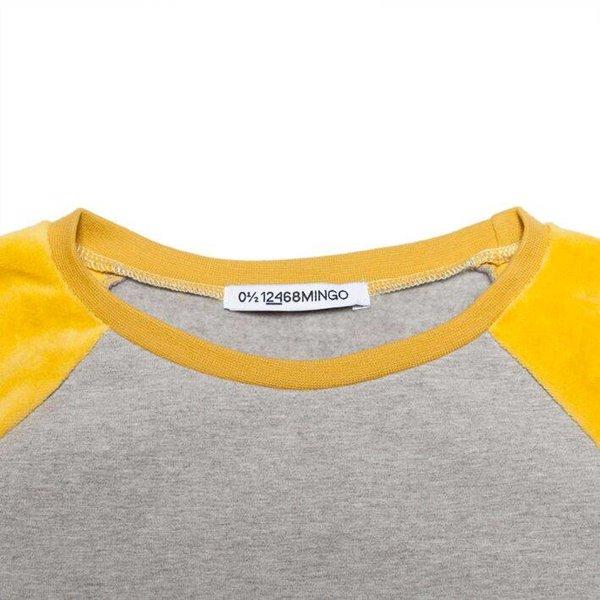 Velvet Sweater Grey/Sauterne