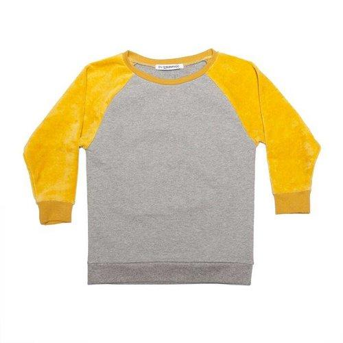 MINGO Velvet Sweater Grey/Sauterne trui