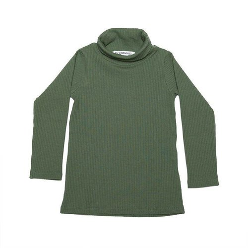MINGO Rib Turtle Neck Duck Green