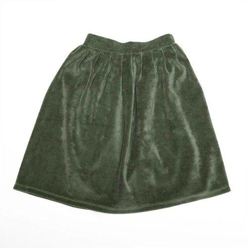 MINGO Velvet Skirt Duck Green rok