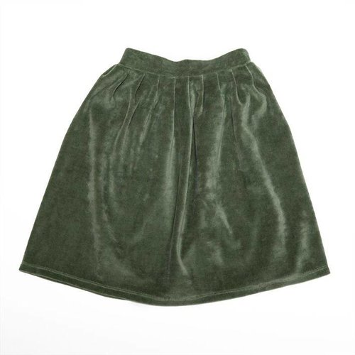 MINGO Velvet Skirt Duck Green