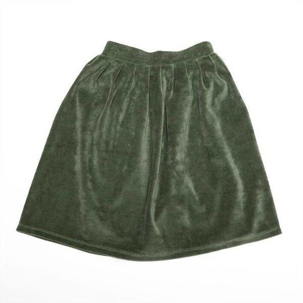 Velvet Skirt Duck Green