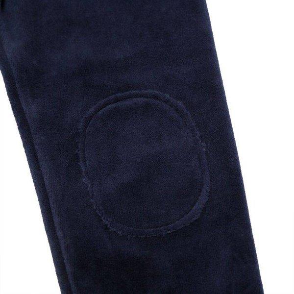 Velvet Legging Black Iris