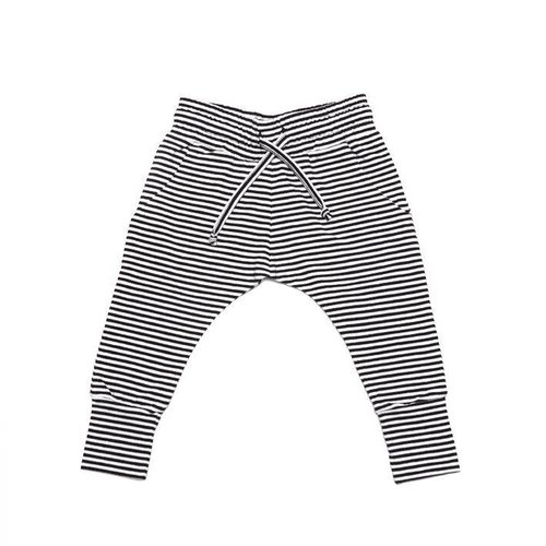 MINGO Slimfit Jogger B/W Stripes Winter