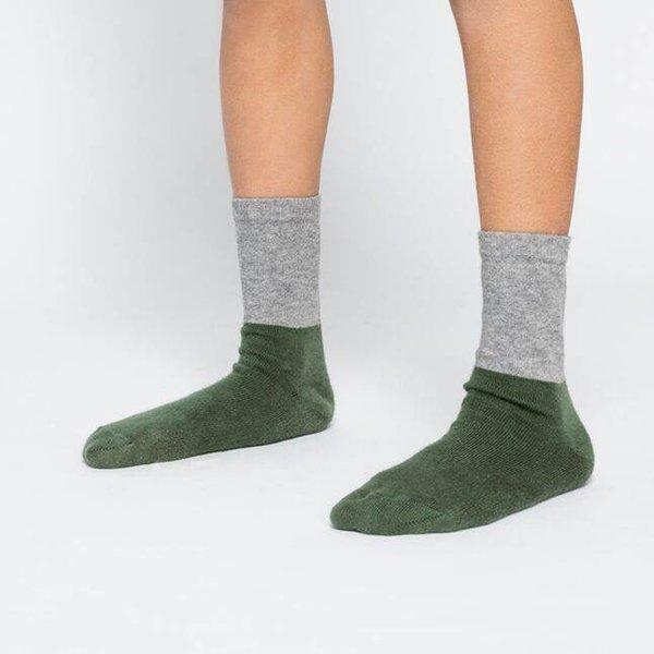 Socks Grey/Duck Green