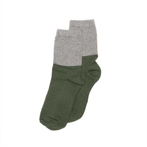 MINGO Socks Grey/Duck Green sokken