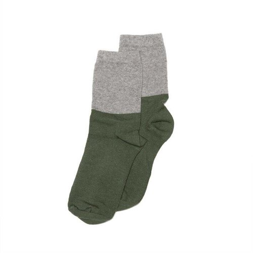 MINGO Socks Grey/Duck Green
