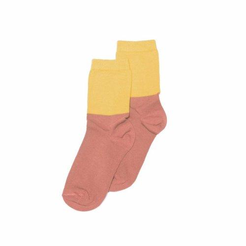 MINGO Socks Raspberry/Sauterne sokken