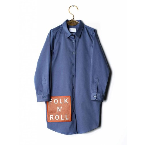 Wolf & Rita Roberta Dress Blue jurk