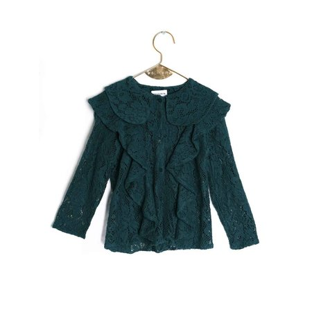 Wolf & Rita Rebeca Lace Green Blouse