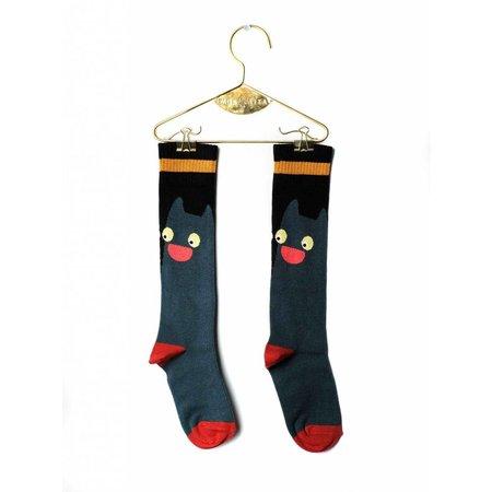 Wolf & Rita Socks Cat Green kniesokken